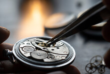 Mechanical Watch Repair Process. Watchmaker