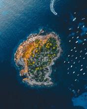 Aerial View Of The Island Pantaleu Near Sant Elm, Mallorca Spain