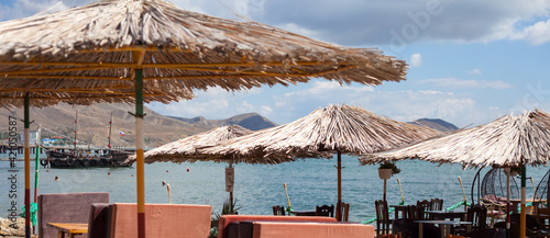 Photo cafe by the sea
