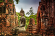 canvas print picture - temple Ayutthaya