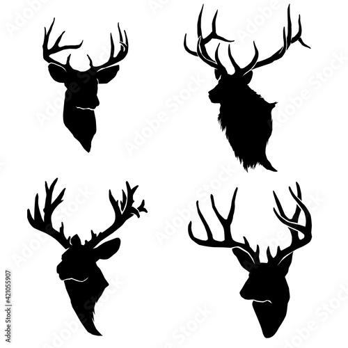 Papel de parede deer head silhouette