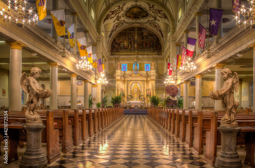 Canvas St. Louis Cathedral in New Orleans Louisiana Jackson Square.