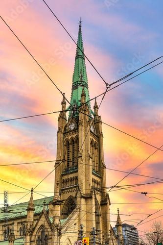 Obraz Saint James Cathedral at dusk, Toronto, Canada - fototapety do salonu