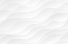 Abstract White And Light Gray Wave Modern Soft Luxury Texture With Smooth And Clean Vector Subtle Background.