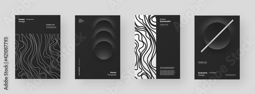 Canvas Print Abstract set Placards, Posters, Flyers, Banner Designs
