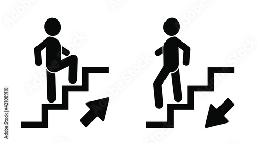 Fotografia up-down stairs icon