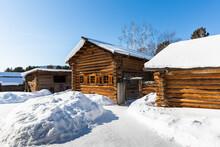 Taltsy,  Wooden Houses Of The Irkutsk Region, Siberia, Russia