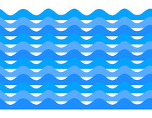 Freshness Natural Theme, A Fresh Water Background Of Blue. Elements Design Seamless Wave. Abstract Wavy For Overlaying Background Of Page Under Meshedge Of Title Front Label. Vector Illustration Eps10