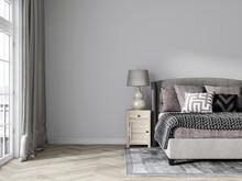 Maquette De Mur De Chambre Simple Et Confortable