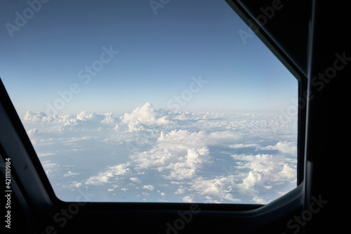Photographie Above the clouds. View from a plane.