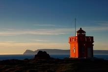 Bolungarvik Lighthouse In The Westfjords, Near Ísafjörður, Iceland