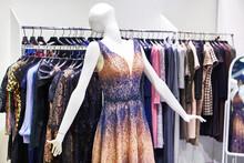 Evening Women's Dress On A Mannequin