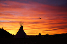 Sunset Teepee Flight