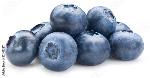 Foto Fresh blueberry isolated on white background