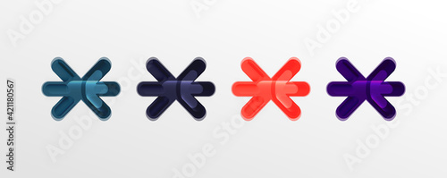 Fotografia Abstract glossy crosses background for business or technology presentations, int