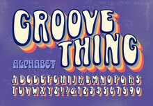Groove Thing Is A Multilayered 1960s Style Psychedelic Alphabet With Rainbow Shadow Layers