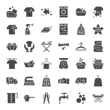 Laundry Solid Web Icons
