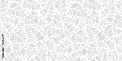 Fototapeta Organic motif, botanical motif background. Seamless pattern.Vector.スタイリッシュな有機的パターン obraz
