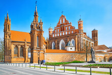Catholic Church Of St. Anna In Vilnius  Is A Catholic Church, Famous Sights Of Vilnius.