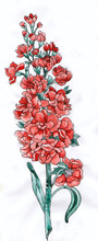 Water Colour Floral Buta For Printing Saree, Dress Material And Furnishing
