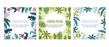 Plants Flat Frames Set