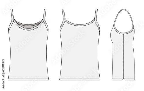 Woman camisole dress template vector illustration Fototapet