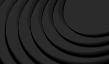 Abstract Background, Black 3d Circles Forming Alyers Or Steps, Backdrop For Poster Or Digital Banner, Abstract Wallpaper