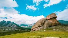 """Turtle Rock """"Melkhii Khad"""" In  Gorkhi Terelj National Park, Mongolia. July 2018."""