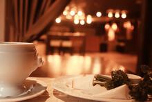 Borsch Restaurant / Serving Russian National Dishes, Borsch In A Restaurant, Russian Cuisine