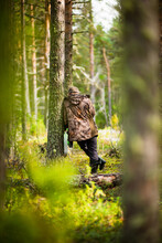 A Man In The Woods, Selective Focus
