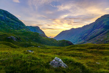 Highland Sunset In Lairig Eilde - Glen Coe