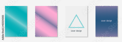 Fototapeta Poster design modern with minimalist geometric lines and shapes. obraz
