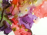 Alcohol Ink Painting. Colored Beautiful Stone