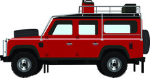 Off-road Car Vector Illustration, EPS 10