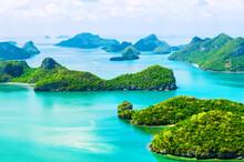 Aerial View Of The Mu Ko Ang Thong Islands And National Marine Park