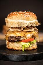 Hamburguesa De Champignones Burger Doble