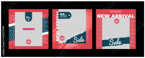 Canvas Sale minimalis square banner template