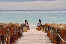 Wooden Beach Access With Beautiful View