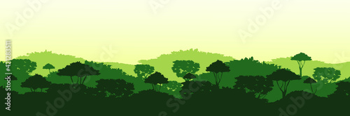 Canvas Endless overgrown jungle background