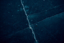 Aerial View Of Blue Sea Ice Frozen