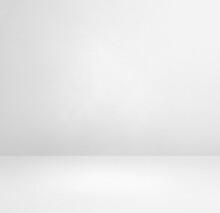 Empty White Concrete Interior Background