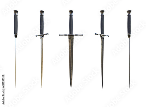 Medieval Dagger Render On White Background Fotobehang
