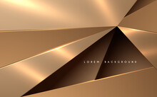 Abstract Golden Triangle Shapes Background