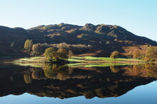 The Picturesque Nature In Late Summer Reflects In The Tranquil Lake,river Rothay, Lake District 2017