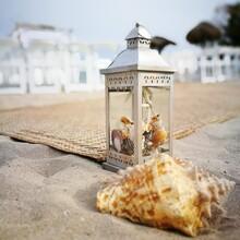 Shell Candle Sand Beach Decor Wedding Details