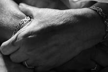Wrinkled Hands Folded