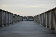 Fishing Pier At Smith Point County Park, Long Island