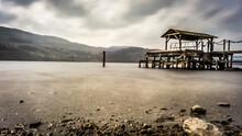 Lifeguard Hut On Land Against Sky