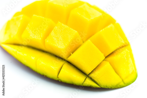 Fototapeta Mango fruit isolated on a white background.  obraz