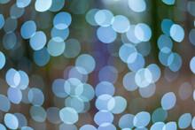 Defocused Image Of Blue Lights